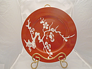 Fitz & Floyd Prunier De Chine Red Negative Salad Plate(S)