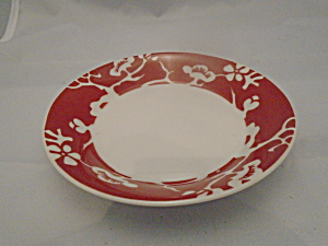 Fitz & Floyd Prunier De Chine Red Negative Dessert Bowl(S)