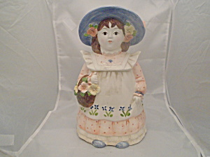 Takahasi Pretty Girl Lady Porcelain Cookie Jar