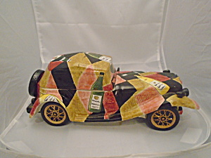 Sports Car Ceramic Cookie Jar, Trinket Jar, Dresser Jar, Tidbit Jar