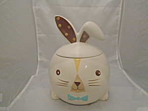 Easter 2012 Cookie Jar Cute Rabbit Ceramic