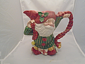 Fitz & Floyd Old World Elf Ceramic Pitcher 1989 Mint Vintage