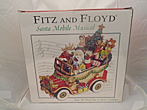 Fitz & Floyd Santa Mobile Musical New In Box