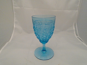 Blue Water Goblets Button, Daisy, Stars Unknown Maker Set 8