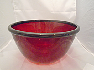 Arcoroc Ruby Red Large Mixing Bowl(S) France Mint