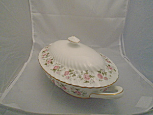 Minton Spring Bouquet Covered Serving Bowl Oval, Mint, Gorgeous