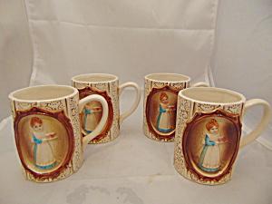 Sears Roebuck Country Coordinates Set of 4 Mugs 1978 VINTAGE (Image1)