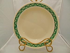 Corelle Green Plaid Rimmed Soup Bowls (Image1)