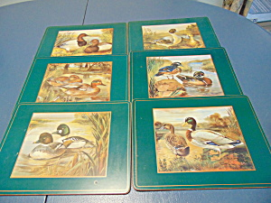 Pimpernel Set Of 6 Wildlife Water Foul Lunch Placemats + 4 Coasters