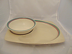 Pfaltzgraff Juniper Snack Plate And Bowl