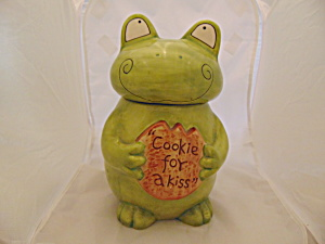 Green Frog Cookie For A Kiss Cookie Jar