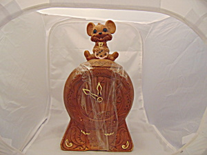 Twin Winton Mouse On Clock Vintage Cookie Jar