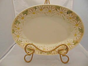 Metlox Sculptured Daisy Oval Relish Tray/small Platter