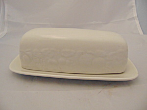 Tabletops Fruit De Blanc Covered Butter Dish