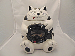 Black And White See-thru Tummy Cookie Jar By Home Collection