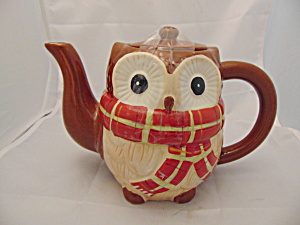 Pier 1 Chilly Billy Owl Tea Pot Ceramic (Image1)