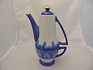 Bombay Blue White 1 Cup Tea Pot W/cover And Cup