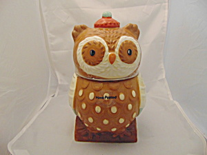 Hand-painted Ceramic Owl Cookie Jar