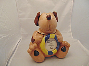 Home Ceramic Doggie Treat Jar/cookie Jar Floppy Ears On Springs