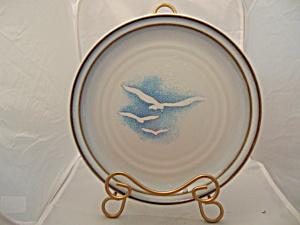 Noritake Wayfarer Dinner Plates Sea Gulls VINTAGE STONEWARE (Image1)