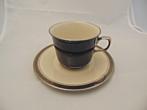 Franciscan Indigo Sets Of Footed Cups And Sacuers