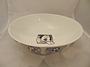 Disney Mickey And Goofy Serving Bowl
