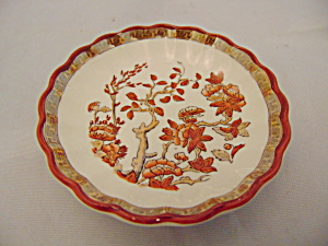 Copeland Spode India Tree Red Butter Pat(s) RARE (Image1)