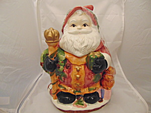 Santa Ceramic Cookie Jar Different and Very Cute (Image1)
