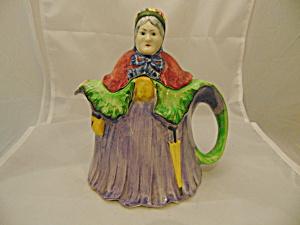 HJ Wood Little Old Lady Stoneware Vintage Tea Pot England (Image1)