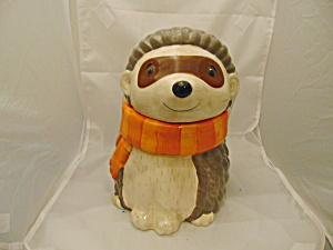Hedgehog Ceramic Cookie Jar