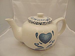 Corelle Blue Hearts Stoneware Tea Pot (Image1)