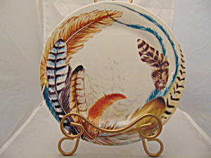 Pier 1 Feather Salad Plate
