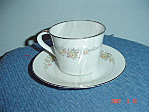 Noritake Gina Cups And Saucers