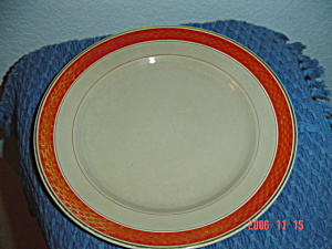 Denmark Red And Tan Dinner Plate(S)