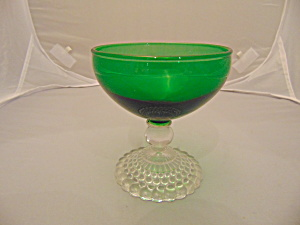 Anchor Hocking Green Boopie Bubbles Short Champagne   (Image1)