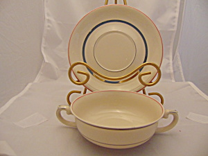 Arabia Suomi Creme Soup Cup(S) + Saucer(S) Finland