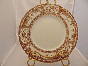Wedgwood Phoebe Brown W/gold Accents Lunch Plate(S)