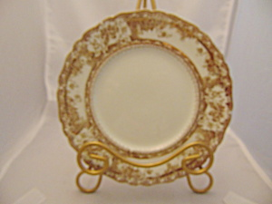 Wedgwood Phoebe Brown W/gold Accents Salad Plate(S)