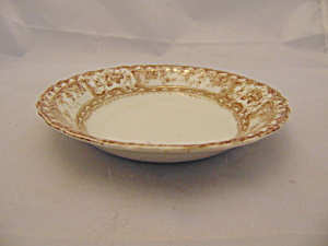 Wedgwood Phoebe Brown W/gold Accents Dessert Bowl(S)