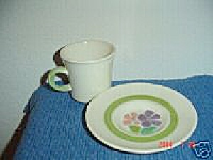 Franciscan Floral Cups And Saucers