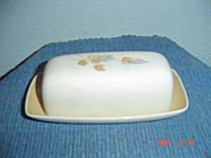 Franciscan Fan Tan Covered Butter Dish