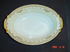 Noritake Garland Oval Handled Serving Bowl