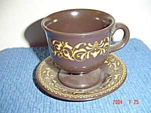 Franciscan Jamoca Cups And Saucers