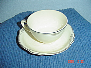 Homer Laughlin Patrician Virginia Rose Saucers