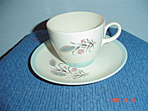 Homer Laughlin Spring Garden Cups And Saucers