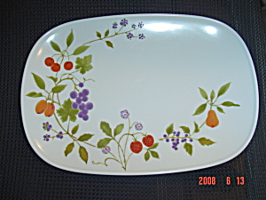 Noritake Progression Berries 'n Such Oval Platter