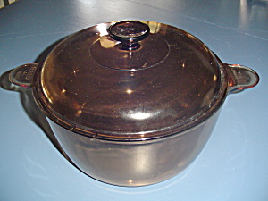 Pyrex/corning/visions Amber 4 Qt.- 4.5 L Dutch Oven With Cover