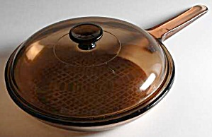 Visions Ambers Waffle Bottom Covered Frying Pan (Image1)