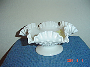 Fenton Hobnail Footed Bowl