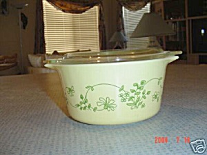 Pyrex Shendandoah Flowered Covered Casserole